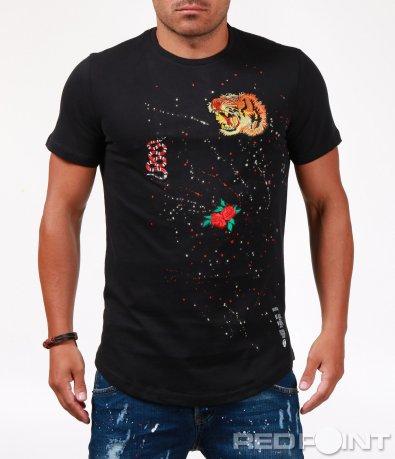 Стилна тениска с щампи 6517
