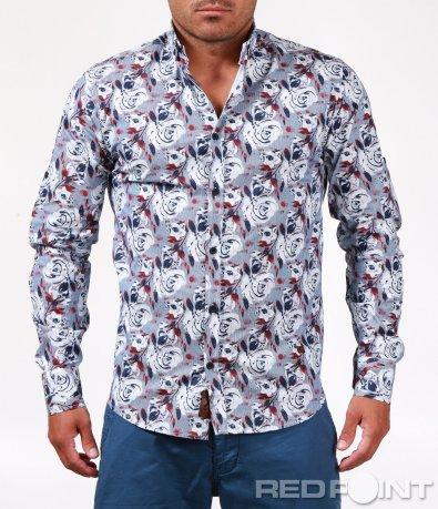 Цветна риза с ефектни мотиви 6529