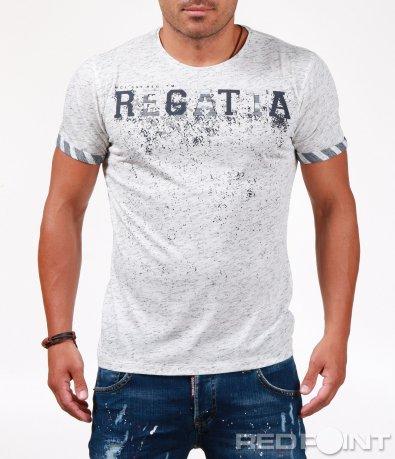 Свежа тениска с меланж ефект 6541