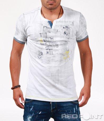 Стилна мъжка тениска с ефект 6542