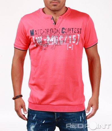 Цветна тениска със семпъл надпис 6543
