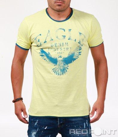 Стилна лятна тениска с щампа 6548