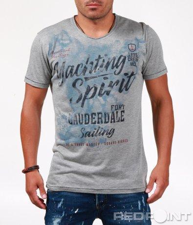 Класическа тениска с надписи 6554