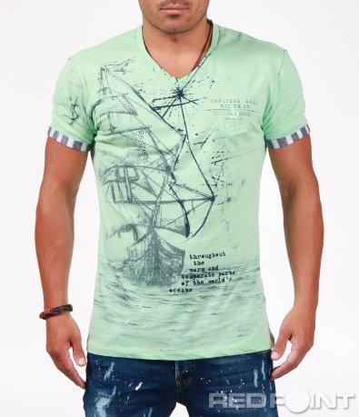Лятна тениска в свеж десен 6556
