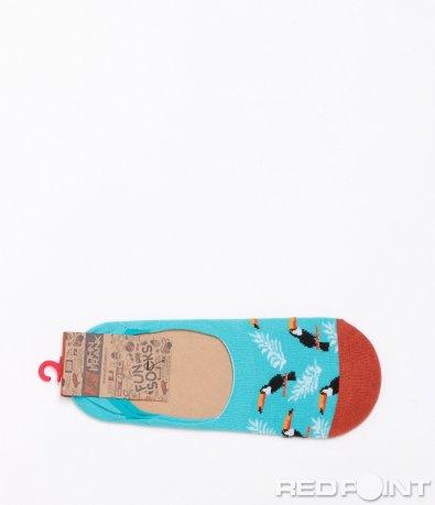 Светло сини чорапи с принт 6578