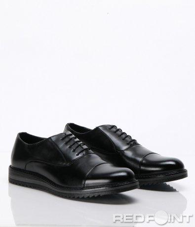 Черни спортно-елегантни обувки 6604