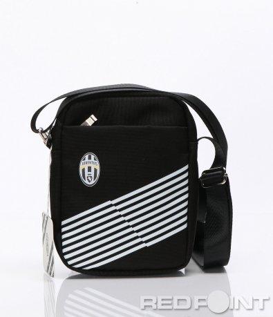 Черна спортна чанта с лого 6625