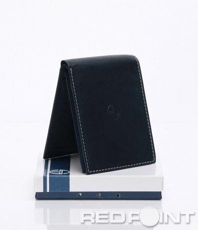 Портфейл с емблема в син цвят 6631