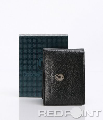 Черно портмоне с емблема 6638