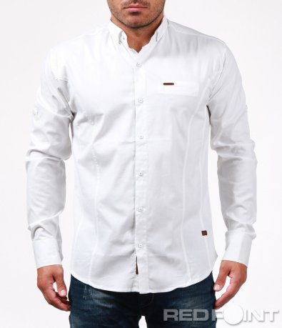 Спортно-елегантна бяла риза 6730