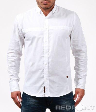 Напълно изчистена бяла риза 6734