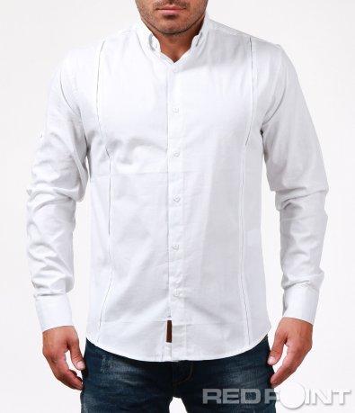 Клсическа вталена бяла риза 6735