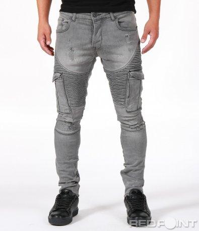 Ефектни дънки със странични джобове 6700