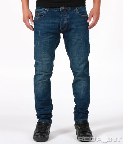 Дънков панталон с вталена кройка 6692