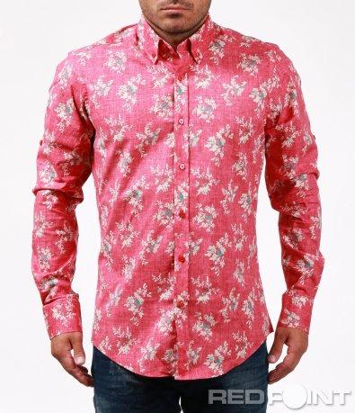 Свежа розова риза на цветя 6705