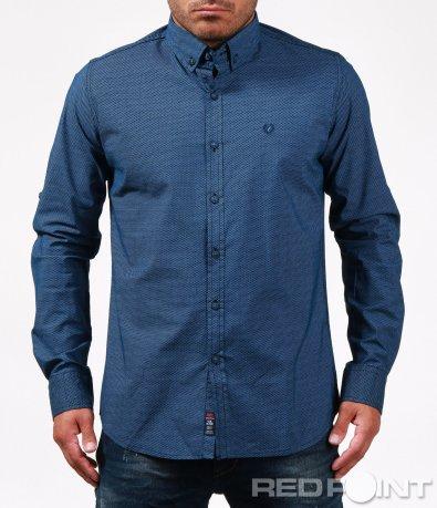 Синя риза със ситни орнаменти 6706