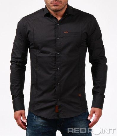 Черна традиционна риза 6737