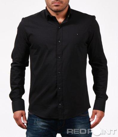 Напълно изчистена черна риза 6743