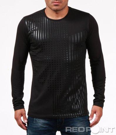 Ефектна блуза с изчистен десен 6752
