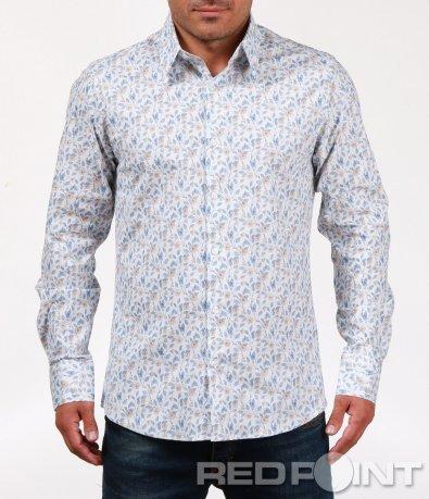 Свежа риза с флорален десен 6790