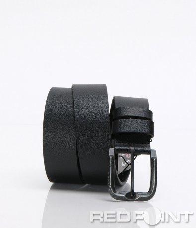Класически черен кожен колан 6773