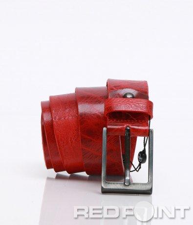 Ярко червен кожен колан 6781