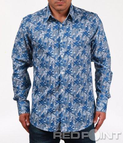 Атрактивна риза с цветен десен 6797