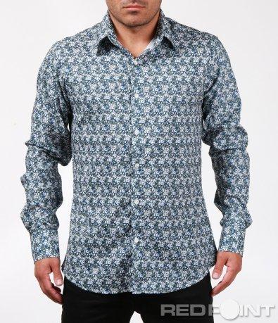 Свежа риза с дребни флорални мотиви 6800