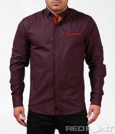 Ефектна риза с орнаменти и акцент 6817