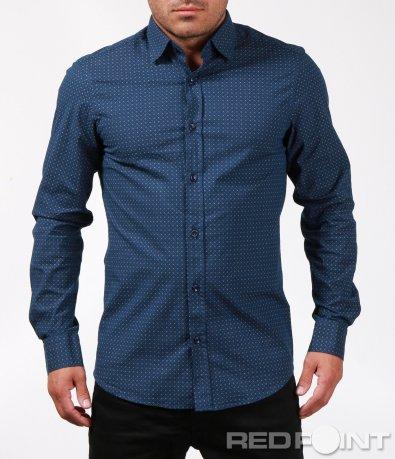 Тъмно синя риза с орнаменти 6826
