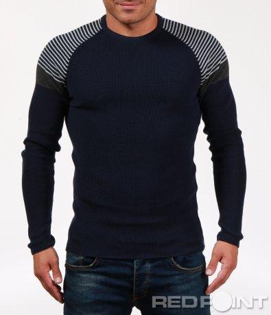 Ефектна мъжка блуза с релефни мотиви 6839