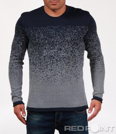 Ефектна блуза в разчупен десен 6840