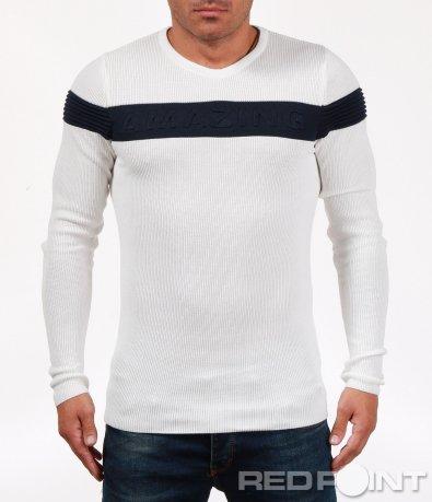 Есенна блуза тип плетиво 6841