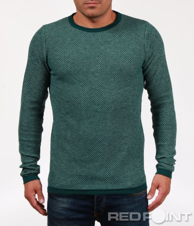 Блуза с дълъг ръкав тип плетиво 6843