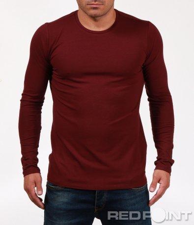 Изчистена блуза с дълъг ръкав 6851