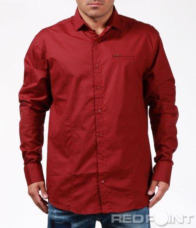 Спортно-елегантна риза с капси 6856