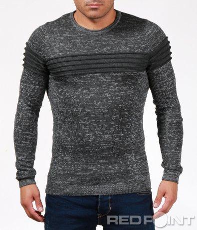 Свеж пуловер с релефен елемент 6864
