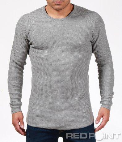 Плетен пуловер с вталена кройка 6878