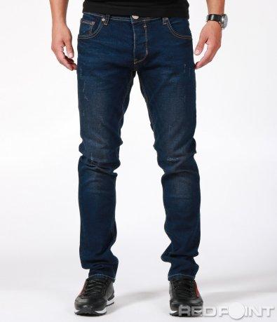 SlimFit дънки в тъмно син цвят 6894