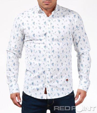 Пъстра риза в елегантен силует 6879