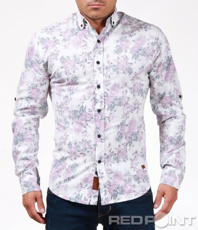 Свежа бяла риза с интересен акцент 6881