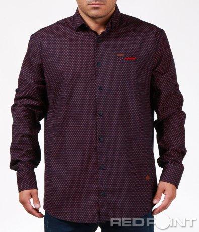 Ефектна риза със ситни орнаменти 6884
