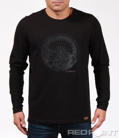Тениска с дълъг ръкав и декорация 6914