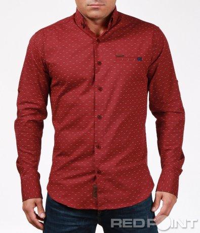 Изискан модел риза с дребен акцент 6917
