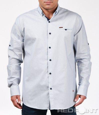 Стилна риза с открояващ се кант 6918