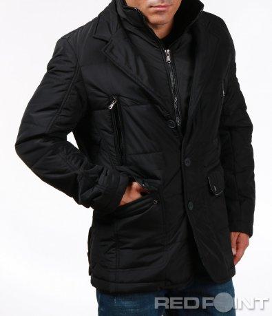 Спортно-елегантно яке в черен цвят 6929