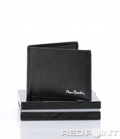 Практичен черен портфейл с емблема 6957