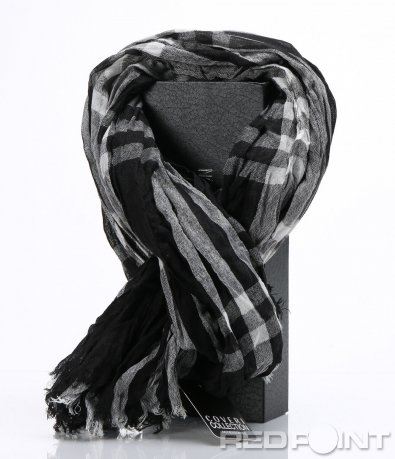 Черно-бял шал в кутия 6961