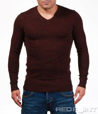 Вталена блуза на ситни точки 6974