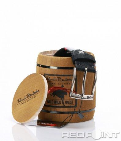 Черен колан с кутия Renato Balestra 7000
